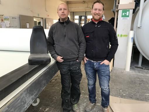 Da sinistra Gianpaolo e Vilmer Piuma, titolari di Metalresine sas di Caraglio