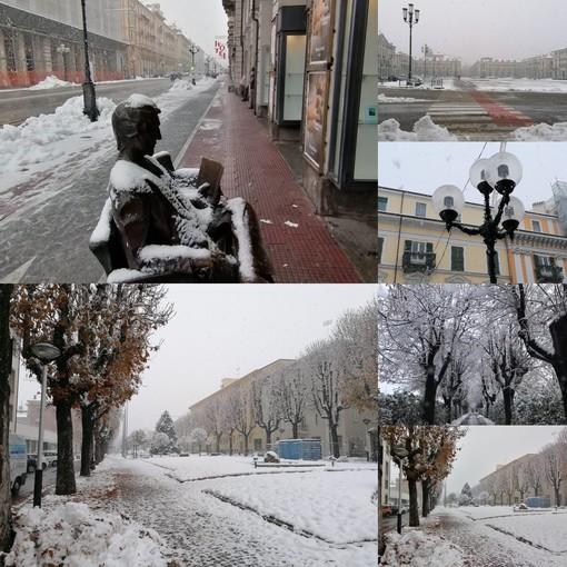 Neve sulla Granda... qualche scatto dalla città di Cuneo, che si è svegliata di nuovo imbiancata