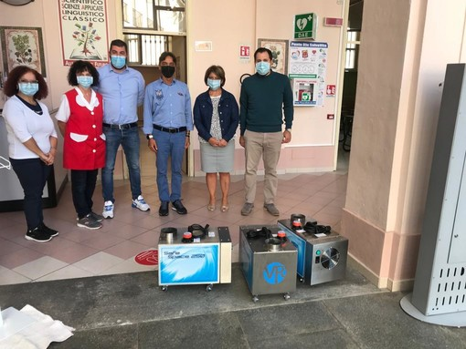 Donati nebulizzatori per la sanificazione: ambienti ancora più sicuri per il Liceo Giolitti-Gandino di Bra