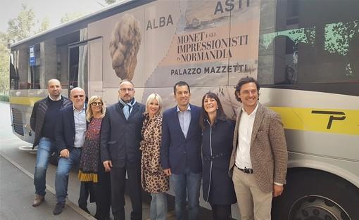 Navetta di collegamento tra Asti e Alba per la Fiera del Tartufo e la mostra di Monet