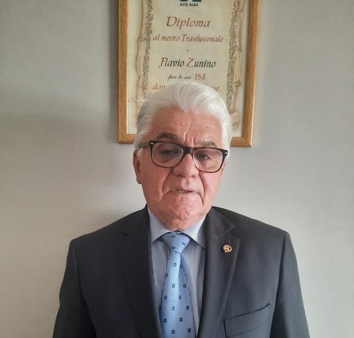 Flavio Zunino, presidente provinciale Avis, 70 anni a novembre, 176 donazioni