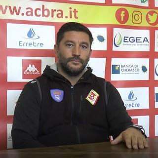 """Calcio Serie D, mister Floris nel post Bra-Chieri: """"Rosa un po' corta, assenze ed inesperienza hanno pesato sulla gestione della partita"""" (VIDEO)"""