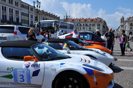 "A Cuneo la Electric Marathon ""San Pietroburgo – Montecarlo"" 2013"