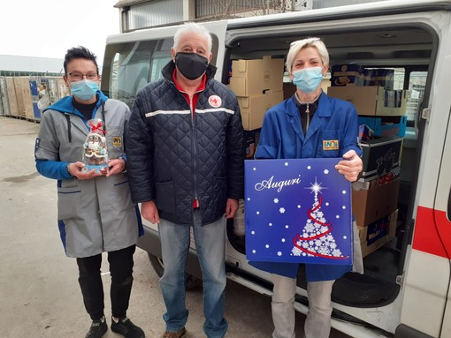 Tanti prodotti dolciari per i volontari della Croce Rossa di Busca