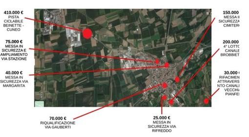 Un milione di euro a Beinette per la riqualificazione del territorio comunale