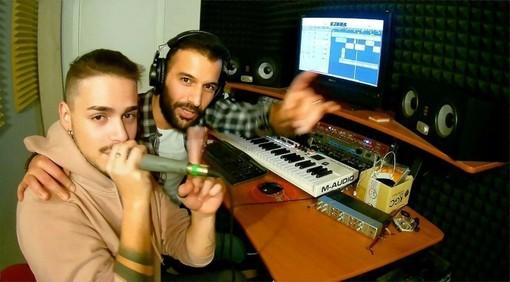 Gennaro Cataldo e Stefano Milanesio in studio di registrazione