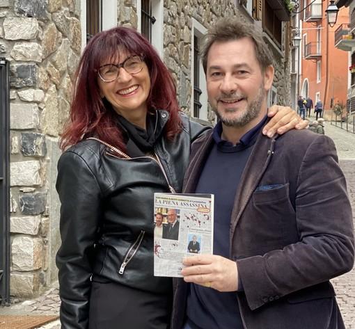 Gian Maria Aliberti Gerbotto con la presentatrice della serata, Baba Cellario