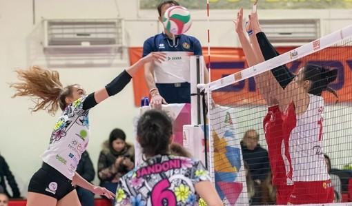 Gaia Giovannini in azione con la maglia dell'Exacer Montale nella passata stagione (foto massimiliano natale)