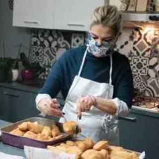 Pina Fimiani nella sua cucina