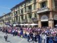 Saluzzo, il passaggio del Giro in corso Italia