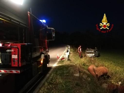 Due interventi dei vigili del fuoco per incidenti a Dronero e in frazione Ronchi di Cuneo