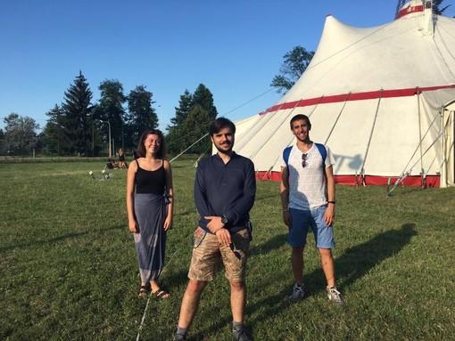 In foto di gruppo dei partecipanti, in Sala Vinaj, e i 3 nuovi membri del direttivo