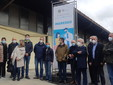 Autorità civili e sanitarie all'inaugurazione del centro vaccinale al PalCRSaluzzo