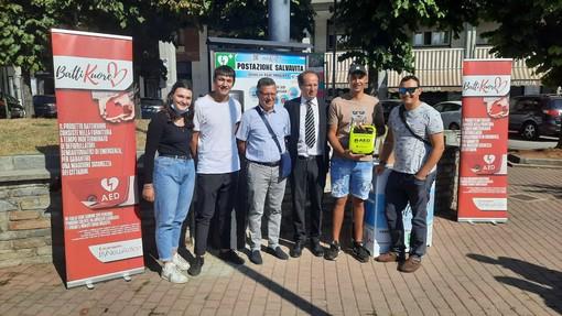 I fratelli Vallati con il sindaco Beretta e l'assessore Bernardi