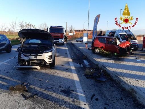 Incidente sulla Bovesana tra la rotatoria dell'Est-Ovest e Boves