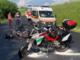 Scontro tra due moto a Paroldo, interviene elisoccorso: quattro feriti, uno è grave