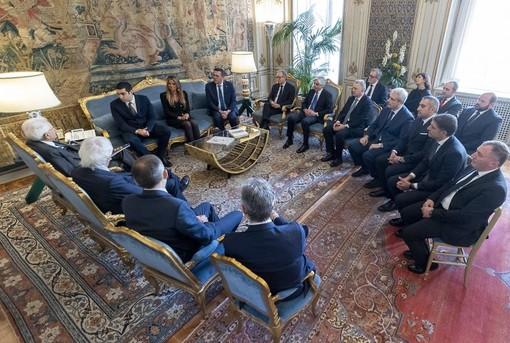 """""""La ripartizione dei fondi voluta dal Governo penalizza enti come il nostro"""": il presidente della Provincia Borgna a Roma all'incontro con Mattarella"""