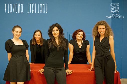 """Il cast femminile dello spettacolo di """"Piovano Italiani"""""""