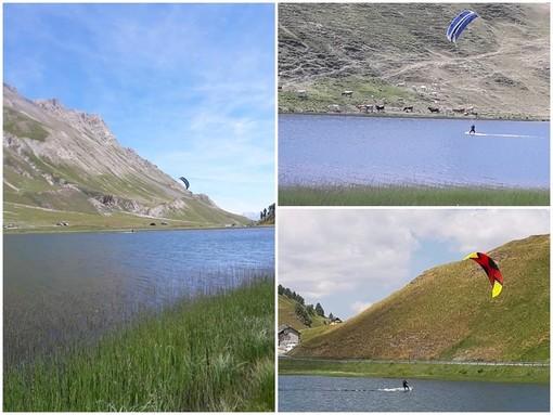 Fare kitesurf a 2000 metri di altitudine, al Colle della Maddalena