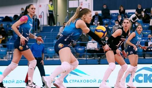 La neo biancorossa Sofya Kuznetsova in azione con la maglia della Dinamo Mosca (credit Dinamo Mosca)