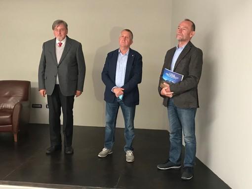 I tre autori: da sinistra Boschero, Testa, Francesconi