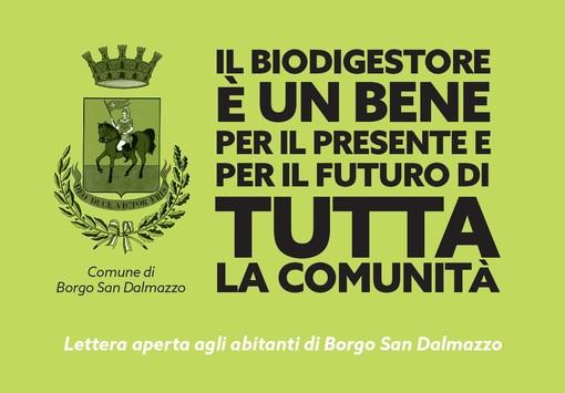 """""""Il biodigestore è un bene per il presente e per il futuro di tutta la comunità"""": nelle case dei borgarini arriva la lettera aperta del sindaco Beretta"""