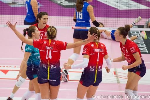 Un'immagine del match tra Mondovì e Marsala (foto Guido Peirone)
