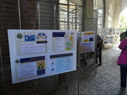 Una sezione di allestimento sulla mostra storica dell'Azione Cattolica