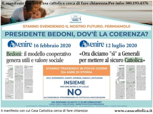 Facciamo un po' di chiarezza sulle  vicende di Cattolica Assicurazioni