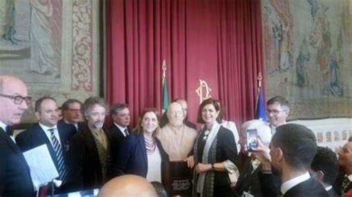 Inaugurazione a Montecitorio del busto dedicato a Salvatore Morelli