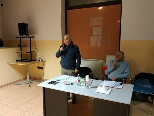 Mauro Fantino e Franco Dini all'ultimo incontro contro il biodigestore