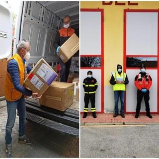 Consegnate 45.100 mascherine dal Lions club Busca e Valli e l'iniziativa prosegue