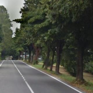 Un tratto di via Nino Carboneri