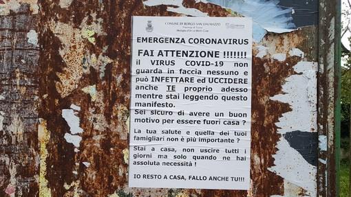 Il manifesto comparso a Borgo San Dalmazzo