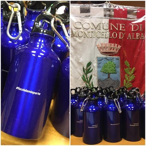 #facciolamiaparte: Monticello d'Alba punta a ridurre l'utilizzo di plastica con 150 borracce in alluminio