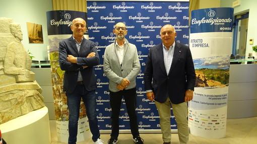 Presidenza. Da sinistra: Silvio Turco (vicepresidente), Davide Sciandra (presidente di zona), Roberto Ganzinelli (vicepresidente vicario)