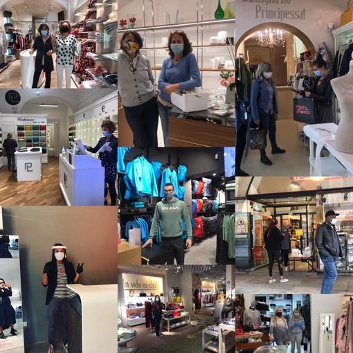 La città di Cuneo riparte anche dai negozi aperti: i sorrisi dei commercianti dietro le mascherine(FOTO E VIDEO)