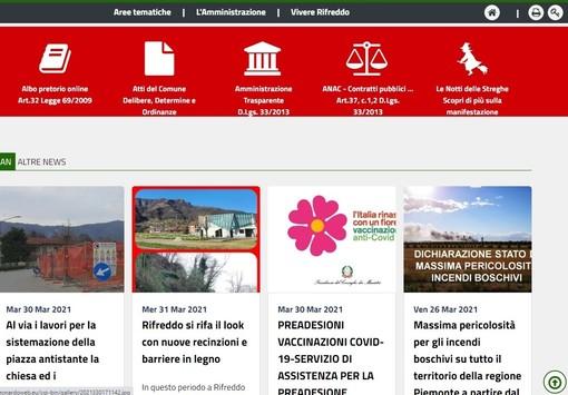 Arriva il nuovo sito di Rifreddo, grafica rinnovata e attenzione alle esigenze dell'utenza