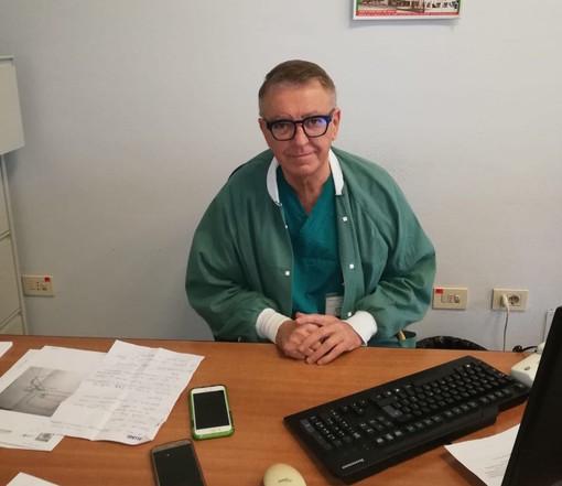 Il grazie e il saluto di Noceti, primario di Pneumologia che aveva rinviato il pensionamento per restare in trincea durante l'emergenza Covid