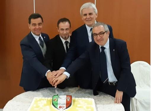 A.I.A. Cuneo, festeggiato l'ottantesimo compleanno con il presidente Nicchi
