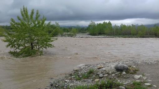 Il fiume Gesso, nell'area dove viene installata la pedancola