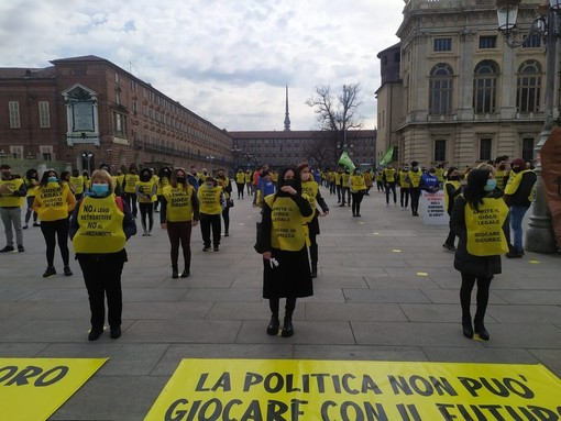 La protesta dello scorso 18 marzo, foto www.torinoggi.it