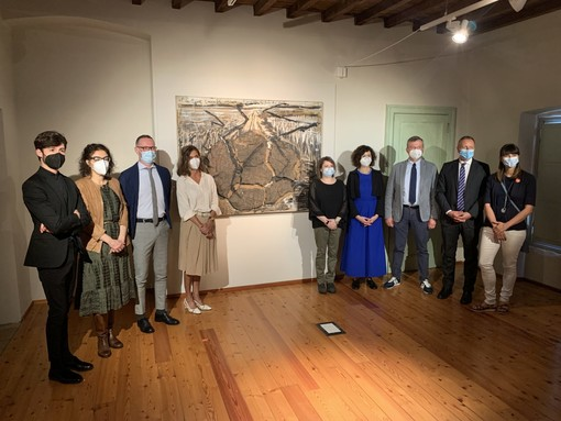 """Presentazione della mostra """"Fragilità resistente. Anselm Kiefer dalla collezione Terrae Motus di Caserta"""" (Foto Fondazione CRC)"""