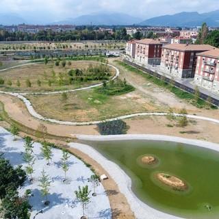 Il Parco Parri in costruzione