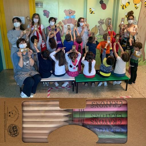 Dreams of children di Sommariva Del Bosco dona pastelli ai bambini per la campagna 5X1000