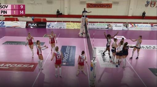 Una immagine del match tra Soverato e Pinerolo