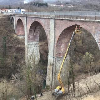 Valle Stura, completata la prima fase dei lavori sul ponte dell'Olla a Gaiola