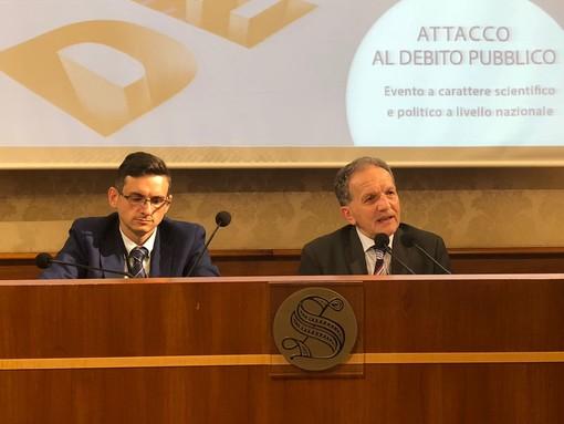 """""""Attacco al Debito Pubblico"""": il senatore Perosino presenta a Roma il convegno albese"""