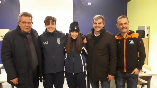 Biathlon: la Valle Gesso accoglie i suoi olimpionici, festeggiati Marco Barale e Martina Giordano (FOTO)