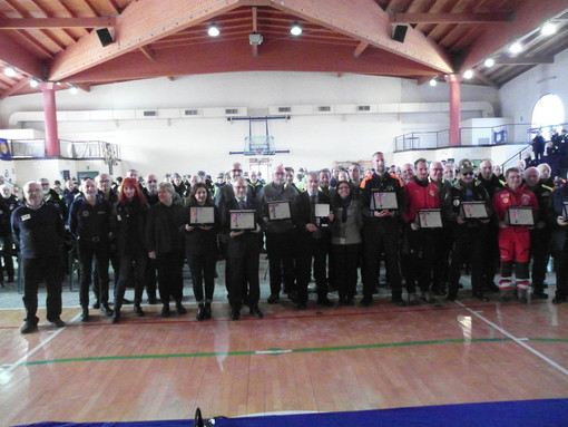 Consegnati gli attestati di riconoscimento ai volontari della Protezione Civile piemontese